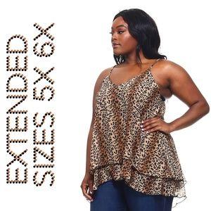 Tops - 4x-6x New Plus Size Leopard Print Blouse Top
